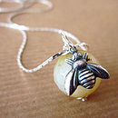 Queen Bee Agate Necklace