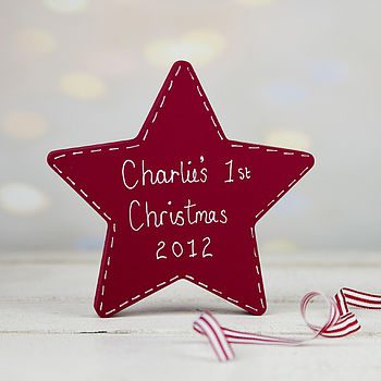 Personalised Free Standing Christmas Star