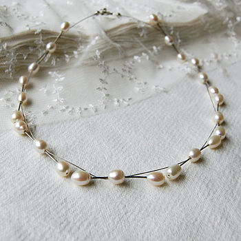 Freshwater Pearl And Wire Necklace