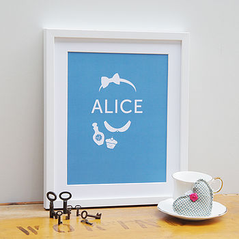 Alice And The White Rabbit Prints