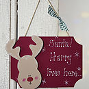 Handmade Personalised Christmas Santa SIGN