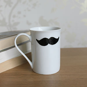 Moustache Mug By MrTeacup - mugs