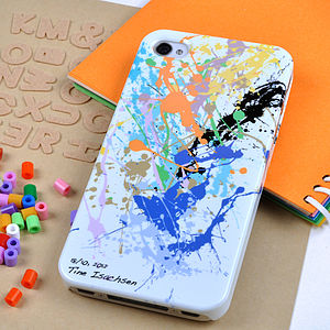 Personalised Paint Splat Case For IPhone