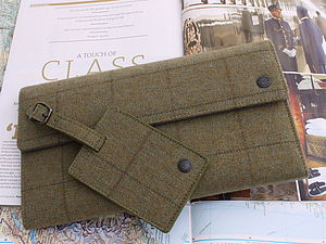 Green Tweed Family Travel Wallet - men's accessories
