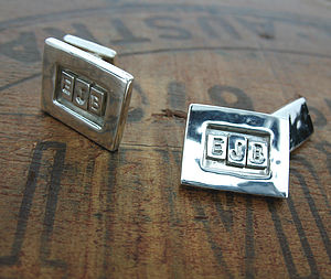 Sterling Silver Personalised Cufflinks - cufflinks