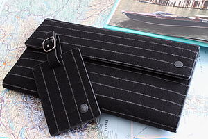 City Pinstripe Family Travel Wallet - luggage