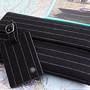 City Pinstripe Family Travel Wallet