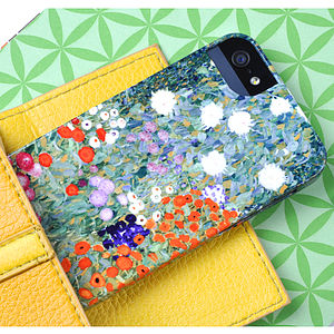 Klimt's Flower Garden For iPhone And Galaxy Cases - tech accessories for her