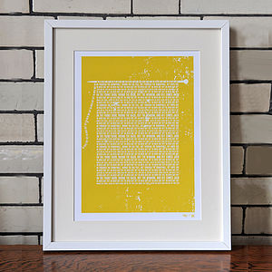 'In Over Out Off' Knitting Rhyme Print