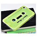 Personalised Green Cassette Tape for IPhone 4/4S