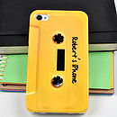 Personalised Yellow Cassette Tape for IPhone 4/4S