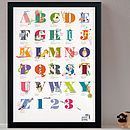 Personalised Where's Baby Alphabet Print