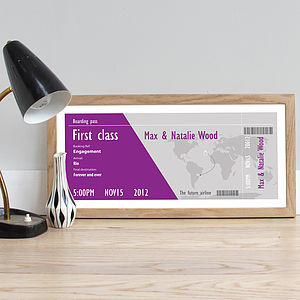 Personalised Wedding Boarding Pass - travel inspired wedding gifts
