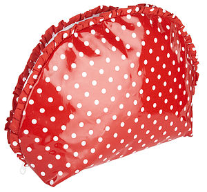 Polka Dot Oilcloth Toiletry Bag - cosmetic & wash bags