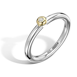 Domed Setting Diamond Ring - women's jewellery