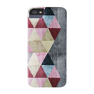Coloured Triangles Case For iPhone Or Samsung
