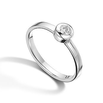 White Gold Parallel Ring
