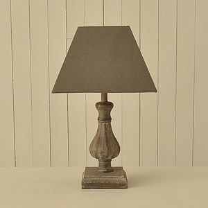 Distressed Bulbous Lamp