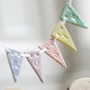 Personalised Porcelain Bunting - bunting & garlands