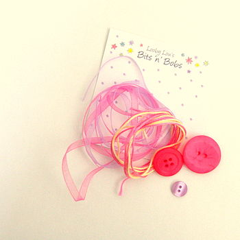 Ribbon Threads And Button Pack