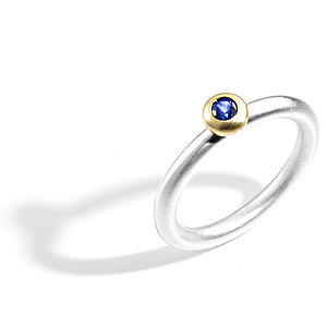 Blue Sapphire Halo Ring - rings