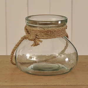 Rope Glass Votive - garden & outdoors