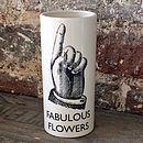 'Fabulous Flowers' Vase