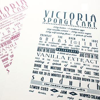 Victoria Sponge Cake Recipe Print
