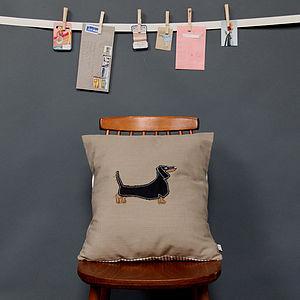 Embroidered Cushion Dachshund