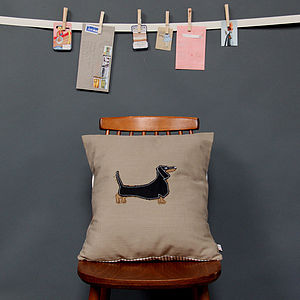 Embroidered Cushion Dachshund - cushions