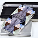 Personalised Triangles Case For iPhone And Samsung