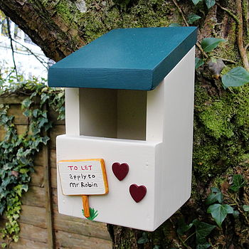 Personalised Handcrafted Robin Bird Box