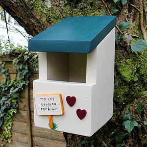 Personalised Handcrafted Robin Bird Box - bird houses