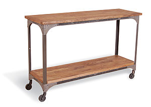 Manhattan Industrial Console Table - furniture