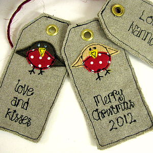 Personalised Christmas Robin Tags - cards & wrap