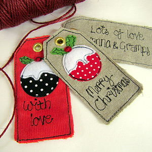 Christmas Pudding Personalised Tags