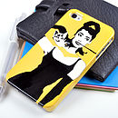 Audrey Hepburn Case For iPhone Yellow Background for iPhone 4