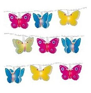 Girl's Butterfly String Fairy Lights - children's lighting