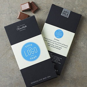 50 Own Branded Chocolate Bars - personalised