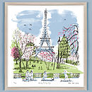 Alice Tait 'Early Spring Day, Paris' Screen Print