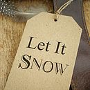 Christmas Gift Tags Let It Snow