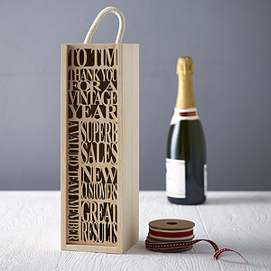 Personalised Bottle Box - drink & barware