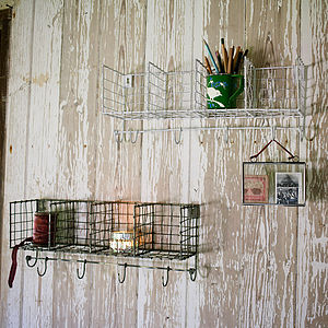 Wire Locker Room Hooks - storage & planters