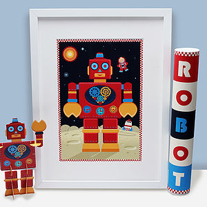 Big Red Robot Print Gift Pack