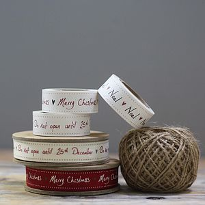 Christmas Ribbon, Tape And String - finishing touches