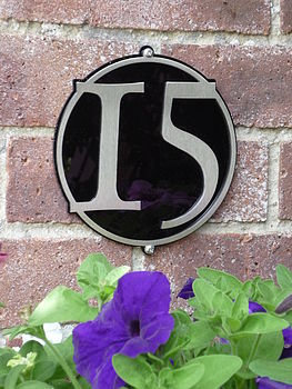 Stainless Steel Circle House Number Plaque