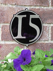 Stainless Steel Circle House Number Plaque - house numbers & doorbells