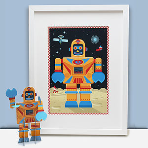Big Yellow Robot Print Gift Pack