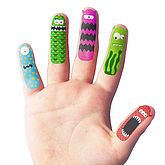 Finger Temporary Tattoos - health & beauty