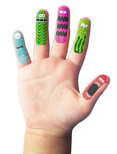 Finger Temporary Tattoos - children's parties